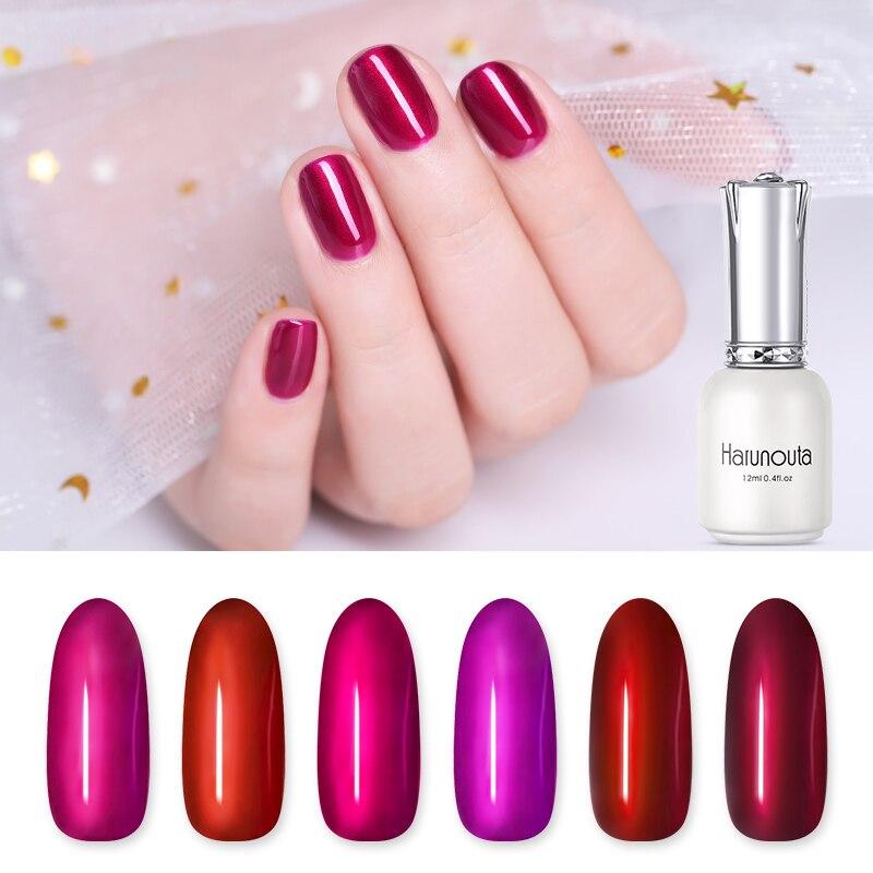 Harunouta 12ml Espejo Esmalte De Uñas Color Rojo Brillante