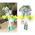 Data A Vivo Yoshino Cosplay Trajes de Halloween para As Mulheres Casaco Casaco Com Capuz Verde + Sapatos Feitos Sob Encomenda