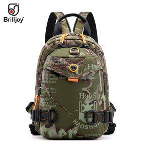 Image 3 - Brilljoy New Men Backpack School Bag Chest Rucksack Bag Military Casual Fashion Male Cross Body One Shoulder Bag Sling Backpack