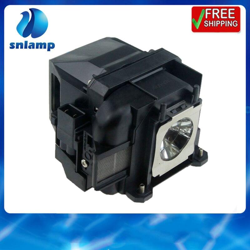 Tüketici Elektroniği'ten Projektör Ampulleri'de Snlamp Yedek ELPLP88 V13H010L88 Projektör lamba ampulü Powerlite S27 EB S04 EB 945H EB 955WH EB 965H EB 98H EB S31