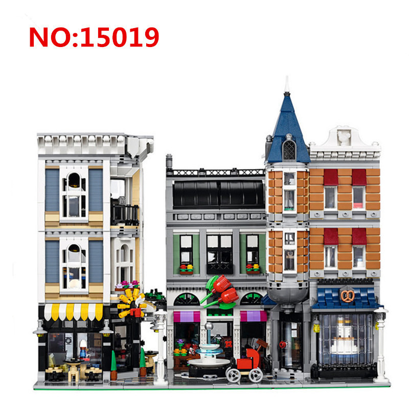 New Lepin 15019 23017 Creator Expert Series Assembly Square Building Blocks Figures Model Bricks Compatible With LegoINGly 10255 in stock with light 15019b 4122pcs lepin 15019 4002pcs assembly square city serie model building kits brick toy compatible 10255