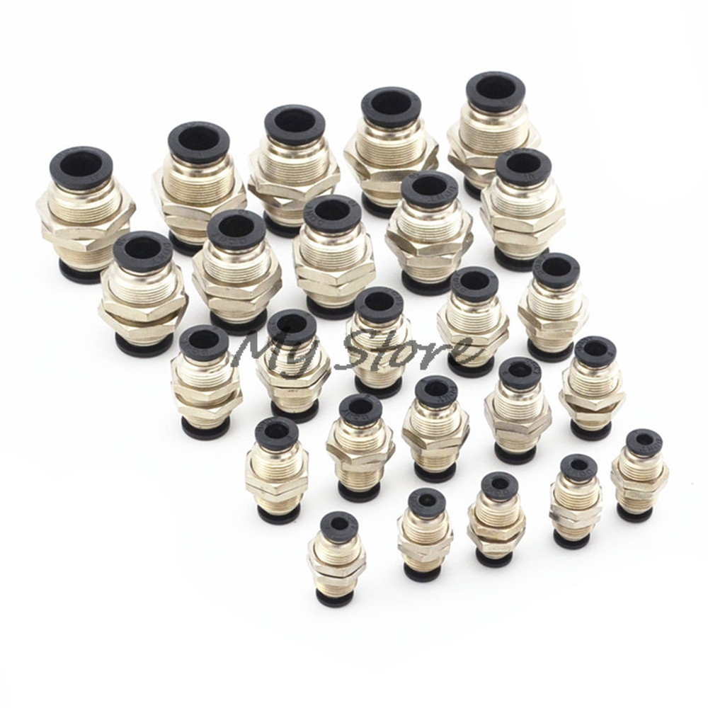 Black 4 6 8 10 12MM Pneumatic Bulkhead Straight Push In Quick Fitting Connector Union PM -04 06 08 10 12 free shipping 30pcs peg 10mm 8mm pneumatic unequal union tee quick fitting connector reducing coupler peg10 8