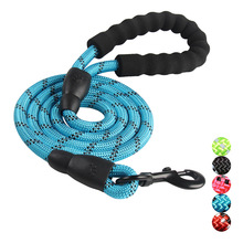 Reflective Large Dog Leash Nylon Rope font b Pet b font Running Tracking Leashes Long Lead