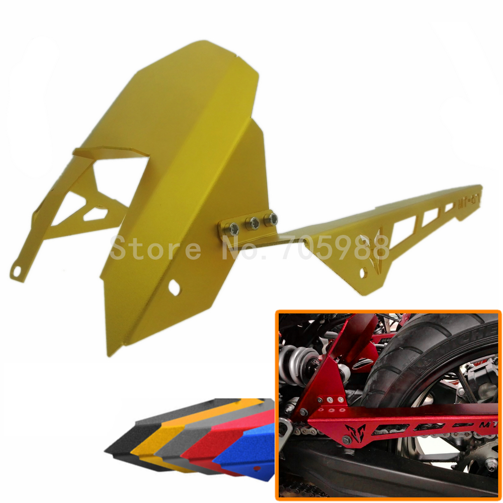 High Quality Motorcycle Parts For Yamaha MT07 MT-07 FZ07 FZ-07 CNC Aluminum Rear Fender and Chain Cover 5 Colors for Optional for yamaha mt 07 mt 07 fz07 mt07 2014 2015 2016 accessories coolant recovery tank shielding cover high quality cnc aluminum
