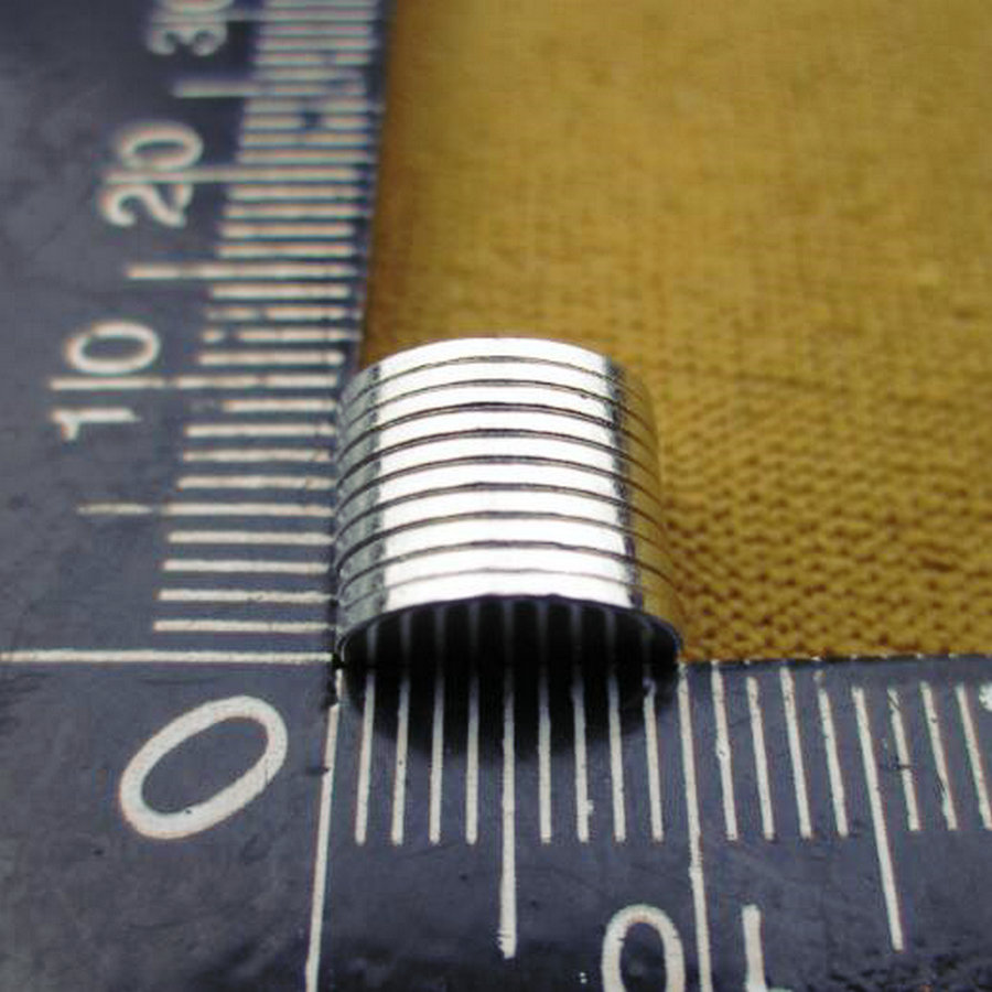 50Pcs 10*1 mm N50 Super Strong Rare Earth NdFeB Magnets Neodymium  Magnet 10mm*1mm Round Cylinder Permanent Sheet