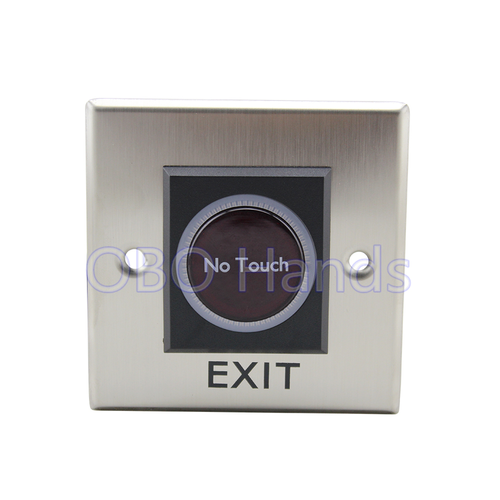 Hot sale! Infrared no touch exit push button switch for access control system door exit button switch emergent exit button/push 1pc spst momentary soft touch push button stomp foot pedal electric guitar switch m126 hot sale