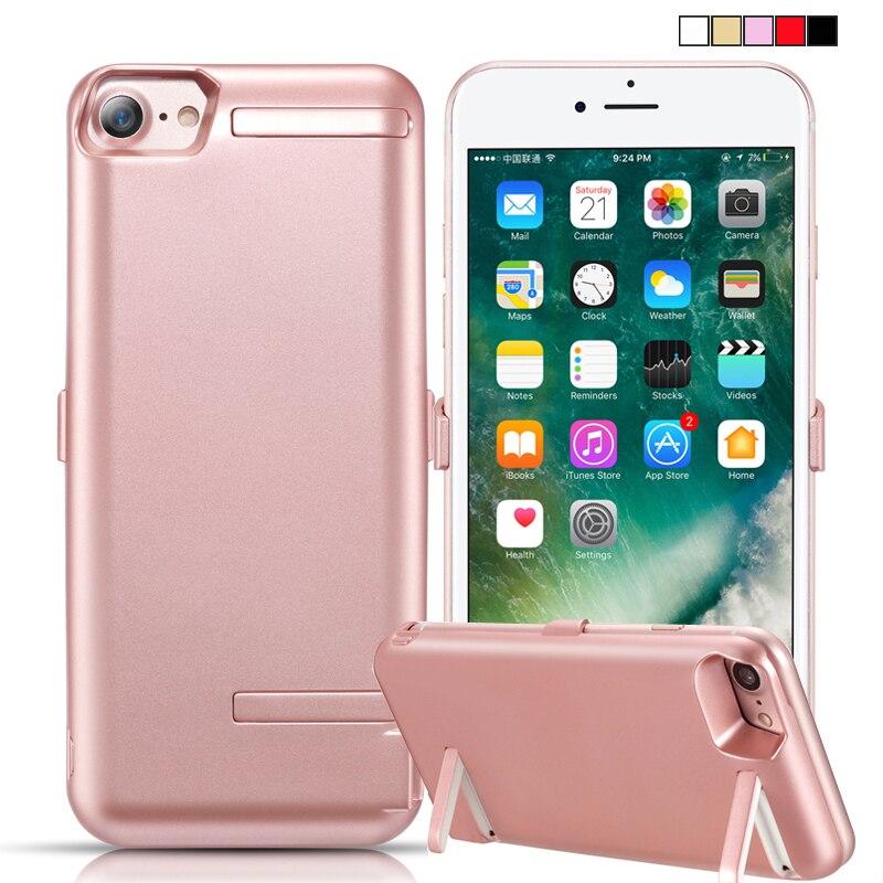 10000 mAh Power Case Per iPhone 8 7 6 s 6 Doppio Stand Coperchio Della batteria Per il iphone 7 Caricatore Astuto Capa Fundas Per iPhone 6 6 s
