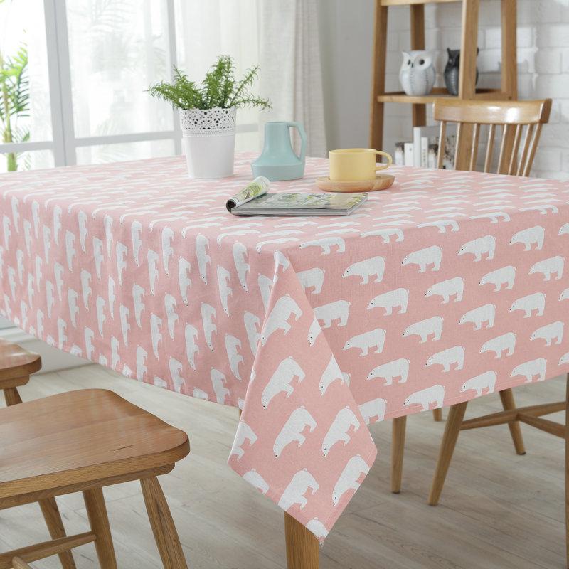 Modern Tablecloth Popular Cartoon Animals Cotton cloth Restaurant Table cloth Kitchen Wedding Restaurant Tablecloths
