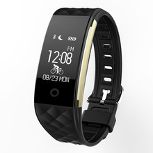 Health monitor Bluetooth Wristband smart watch Antilost warning Pedometer Fitness Tracker Wearable Devices Heart Rate monitor