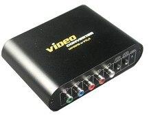 Высококачественный конвертер vga-/Ypbpr компонент к vga конвертер для PS2/PS3/wii, dvd-плеер с адаптером питания (AU, UK, EU, US доступно)