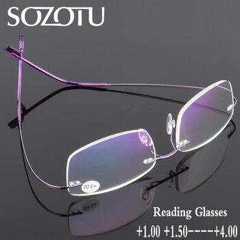 6dc6e6c074 Gafas para leer hombres mujeres ultraligero sin montura ojo Gafas  prescripción presbicia Eyewear + 1.0 + 1.5 + 2.0 + 2.5 + 3.0 + 3.5 + 4.0  yq229