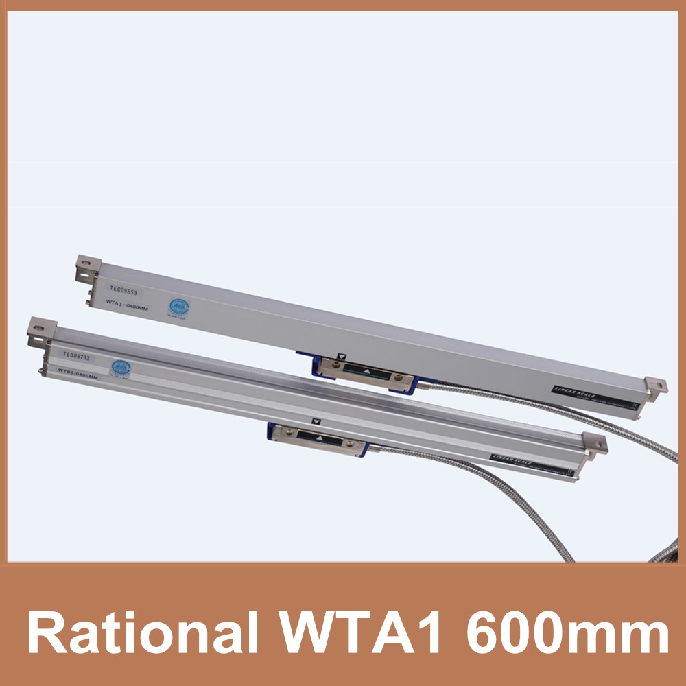 Free Shipping Rational linear scale WTA1 0.001mm / 1um TTL 600mm optical measuring encoder linear scale