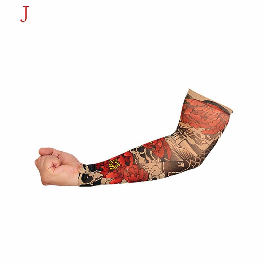 جوارب من النايلون المطاطي والمزيف المؤقتة الوشم كم تصاميم الجسم الذراع الوشم وشم رائع للرجال والنساء انخفاض الشحن
