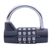 Password Safety Lock Zinc Alloy Combination Travel Security Safely Code Lock Combination Padlock Wide Color Random