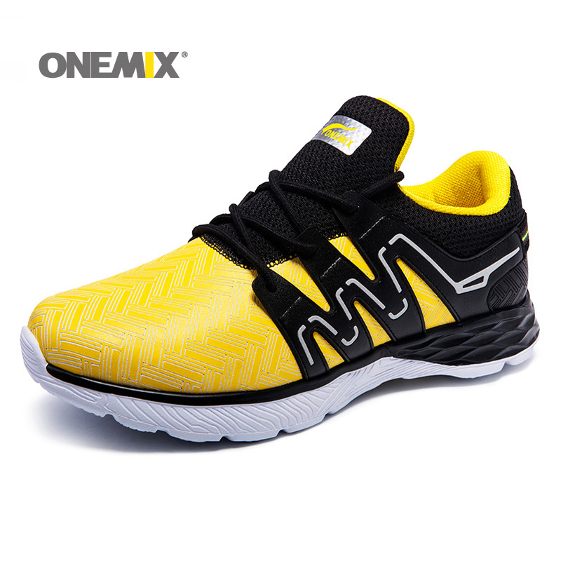 2018 New onemix Men Running Shoes Nice Run Athletic Entrenadores Zapatillas Deportes Cojín de calzado ligero Caminar al aire libre