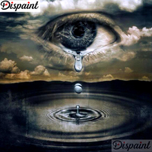 Dispaint Full Square/Round Drill 5D DIY Diamond Painting Eye tears landscape Embroidery Cross Stitch 3D Home Decor Gift A10880