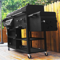 Infrared Gas Grill Outside Garden Barbecue Oven Thickening Infrared Grills Vertical Gas Griddles Large Family Villas