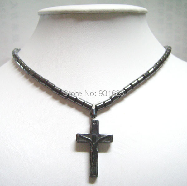 Wholesales fashion magnetic hematite beads cross pendants necklace wholesales fashion magnetic hematite beads cross pendants necklace black magnetic hematite men women healthy jewelry in chain necklaces from jewelry aloadofball Gallery