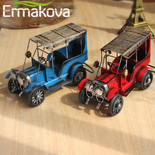 ERMAKOVA Metal Old Car Figurine Vintage Vehicle Model Car Figurine Retro Automobile Model Boy Toy Gift Home Office Decor