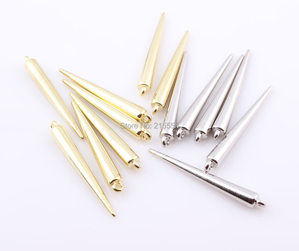 New Wholesale Jewelry Lots Basketball Wives Earrings Spikes Charm Beads  Acrylic Plastic Spike Rivet Pendant Free