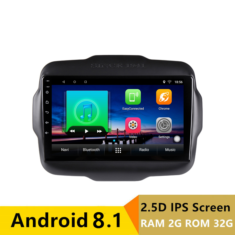 "9"" 2G RAM 32G ROM Android Car DVD Video Player GPS For Jeep Renegade 2015 2016 2017 2018 audio car radio stereo navi wifi"