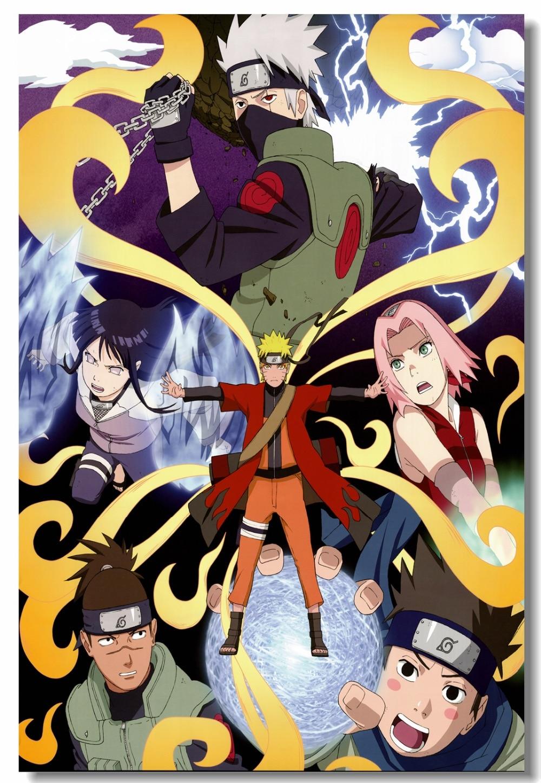 Custom Canvas Wall Decor Naruto Poster Naruto Uchiha Sasuke