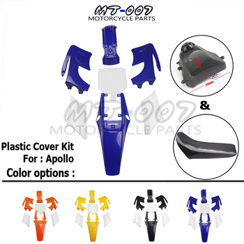Kit completo de cubierta de plástico Apollo Dirt Bike de 4 tiempos carenado y asiento y tanque de combustible para Motocross Orion Pit Bike 110 125 140 150 200CC