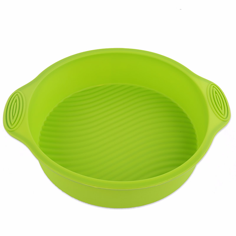 High Temperature Resitance Round Shape Silicone Cake Tools Chiffon Cake Making Mold 10inch Microwave Oven Bakeware Tools
