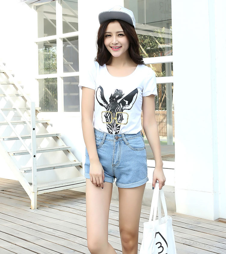 8eaf5ed77cc Aliexpress.com : Buy Women Sexy Ripped Denim Shorts Ladies'Casual Mid Waist  Cuff Jeans Shorts Summer Spring Autumn Plus Size Shorts from Reliable denim  ...