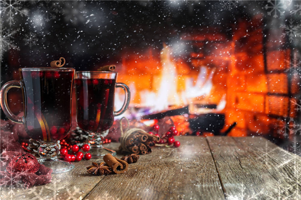 где купить Wine Glass Photography Background Christmas Fireplace Vinyl Photo Backdrops for Studio 7x5ft or 5X3ft Christmas116 по лучшей цене
