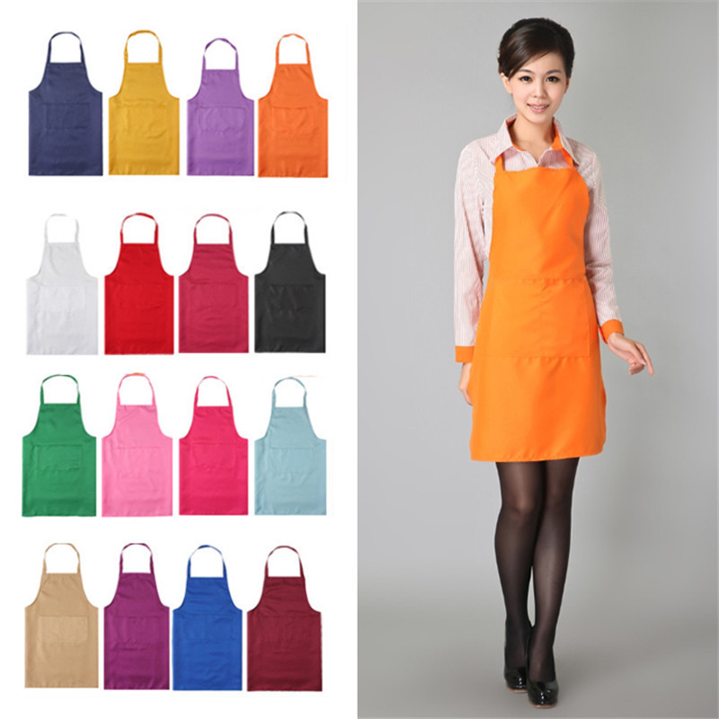 2017 fashion unisex aprons 8 colors colors solid for Apron designs and kitchen apron styles