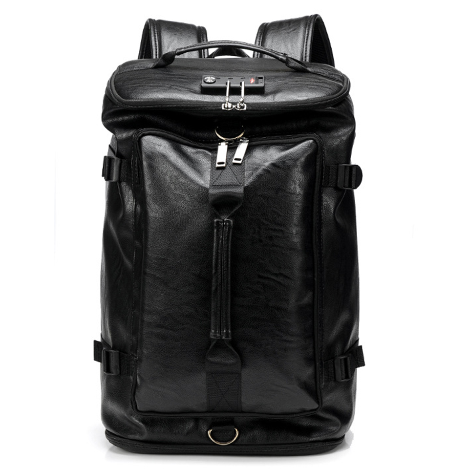 Anti-vol 17 pouces ordinateur portable hommes PU cuir sac à dos hommes garçons Hip Hop femmes filles étudiant sac à dos voyage USB chaussures grands sacs