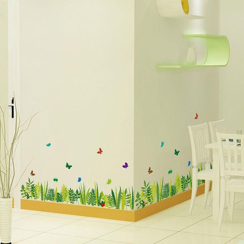 ヾノherbe Papillon Stickers Muraux Amovible Vinyle Decal