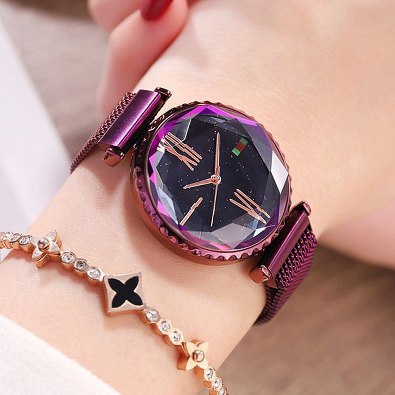 New Beauty Women Watches Woman Dress Crystal Watch Fashion Ladies Quartz Watches Female Simple Magnet Buckle Watch Clock New Beauty Women Watches Woman Dress Crystal Watch Fashion Ladies Quartz Watches Female Simple Magnet Buckle Watch Clock