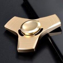 ทองอลูมิเนียมมือปั่นTriอยู่ไม่สุขนิ้วปลายนิ้วGyroโต๊ะของเล่นEDCผู้ใหญ่