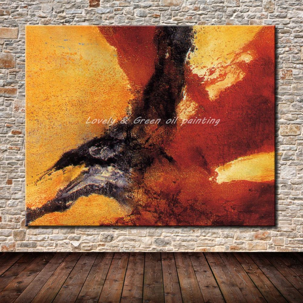 Hand Painted Oil Paintings On Canvas Hand Made Modern Abstract Oil Painting Wall Art Pictures For Living Room Home Decoration