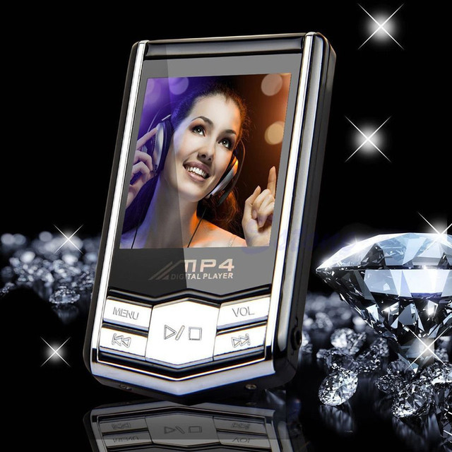 "Beautiful Gitf New Slim MP4 Music Player With 1.8"" LCD Screen FM Radio Video Games & Movie Free Shipping"