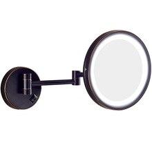 GURUN 3 X LED Light Extendable Shaving Mirror Cosmetic Mirror Wall Mounted  Folding Bathroom Mirror Cosmetica