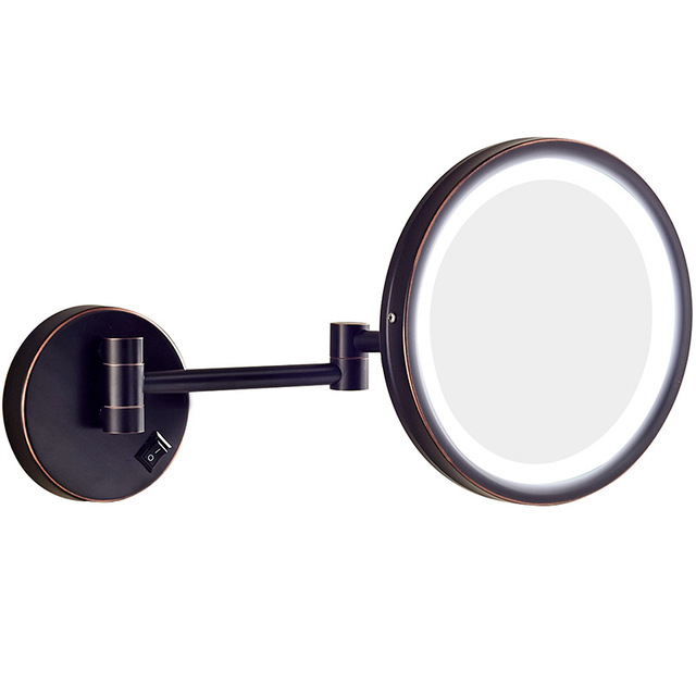 GURUN 3 X LED Light Extendable Shaving Mirror Cosmetic Mirror Wall Mounted  Folding Bathroom Mirror Cosmetica