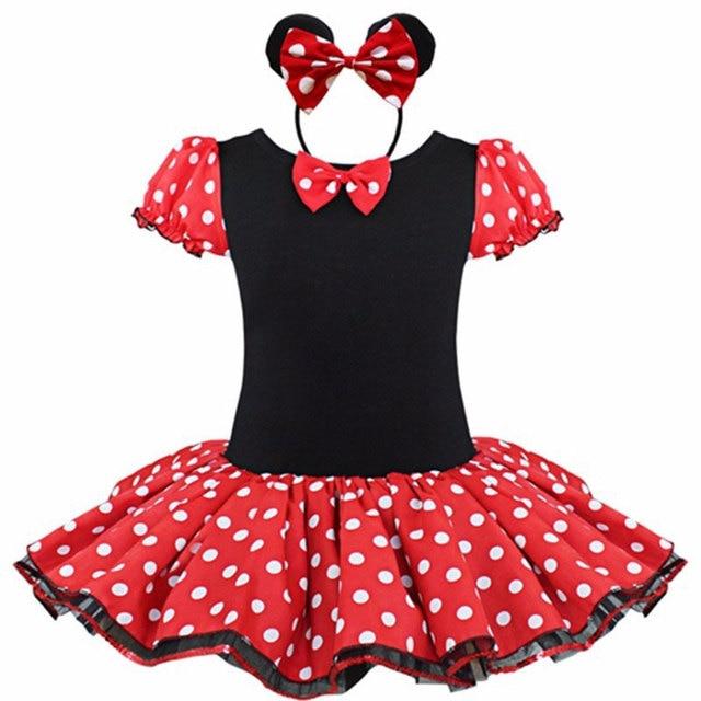 52da15e90 2017 Kids Gift Minnie Mouse Party Fancy Costume Cosplay Girls Ballet Tutu  Dress+Ear Headband