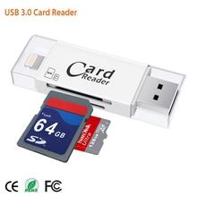 USB 3,0 Lightning считыватель карт OTG флеш-накопитель, мicro SD, TF карта, карта памяти Micro SD для устройства чтения sd-карт для iPhone 5 5S 6 7 8 X S6 S7 край