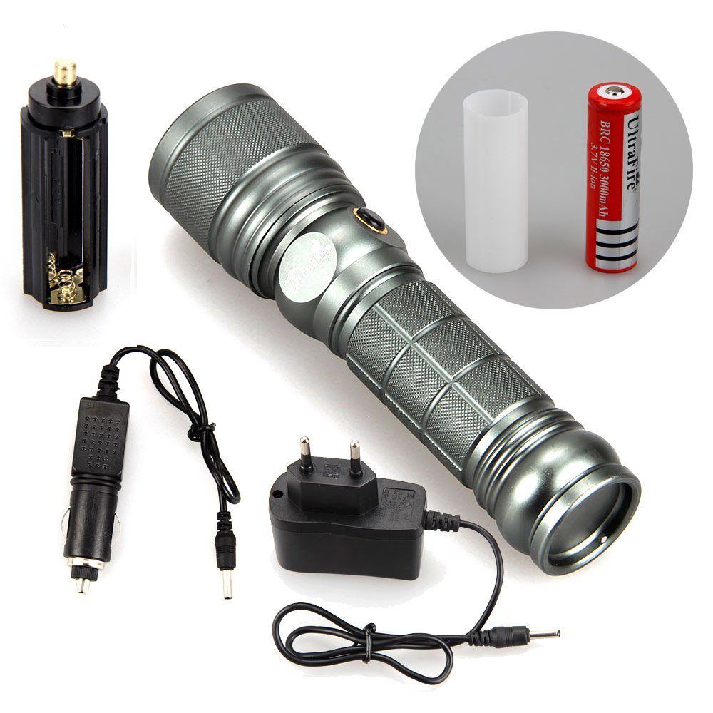 2500LUMENS 2X XM L T6 UV Violet LED Adjustable ZOOM Flashlight Torch AAA AC Charger Car