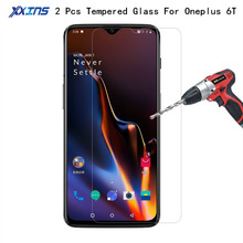 2Pcs lot Tempered Glass For Oneplus 6T Original Mobile Phone 1+ 6 T Snapdragon 845 smartphone One Plus Protective Film Cover