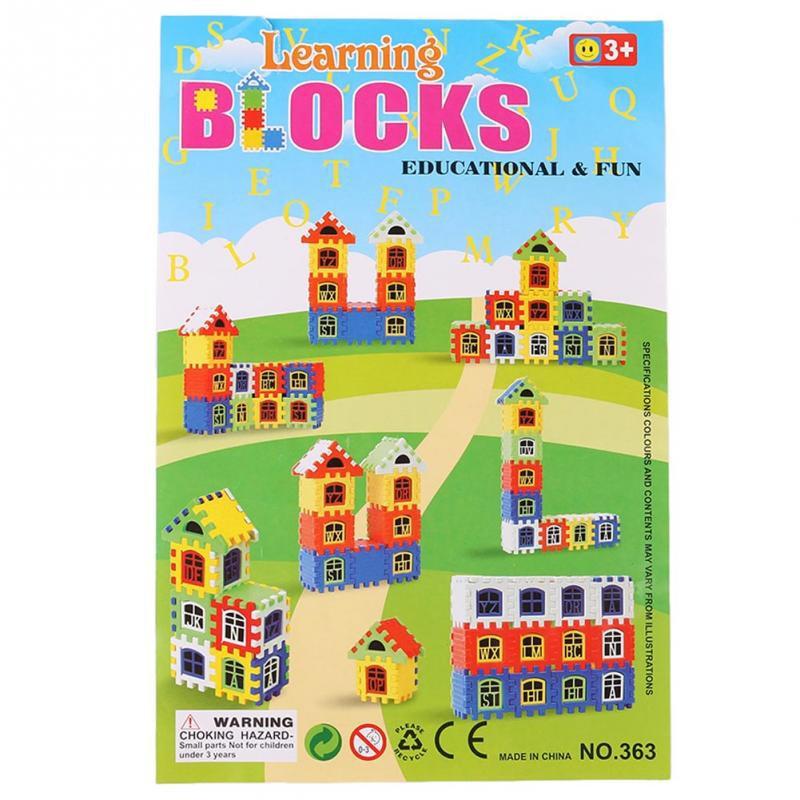 Baby Kids Children House Building Blocks Educational Learning Construction Developmental Toy Set Brain Game 10