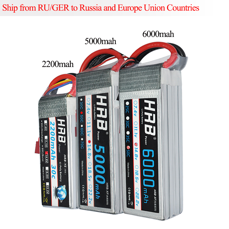 HRB RC Lipo 4S Battery 2200mAh 5000mAh 6000mAh 30C 50C 14.8v Li-Polymer Bateria AKKU for RC Car Quadcopter Helicopter Airplane h energy 2200mah 7 4v 50c lipo battery