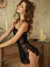 2019 אביב ובקיץ חדש קלע ריסים קשת סקסי פיצול גברת הכותונת תחרה חלול שחור סקסי הלבשת לנשים
