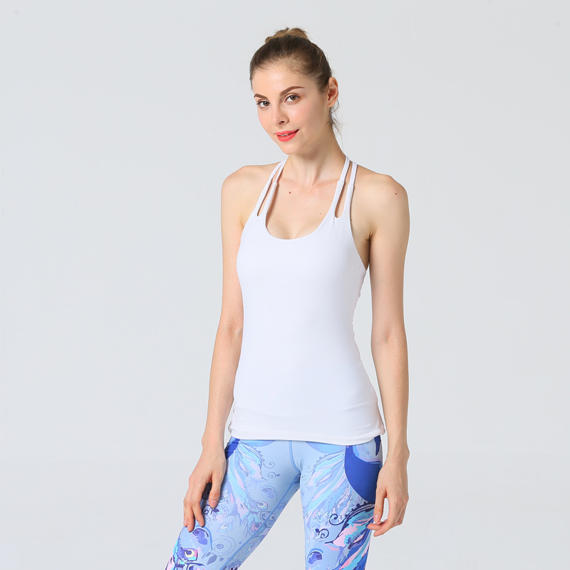 Sexy Sport Top Fitness Women Back Cross Yoga Shirt Gym Sportswear Yoga Top Quick Dry T Shirt For Fitness Women Sportswear Vest in Yoga Shirts from Sports Entertainment