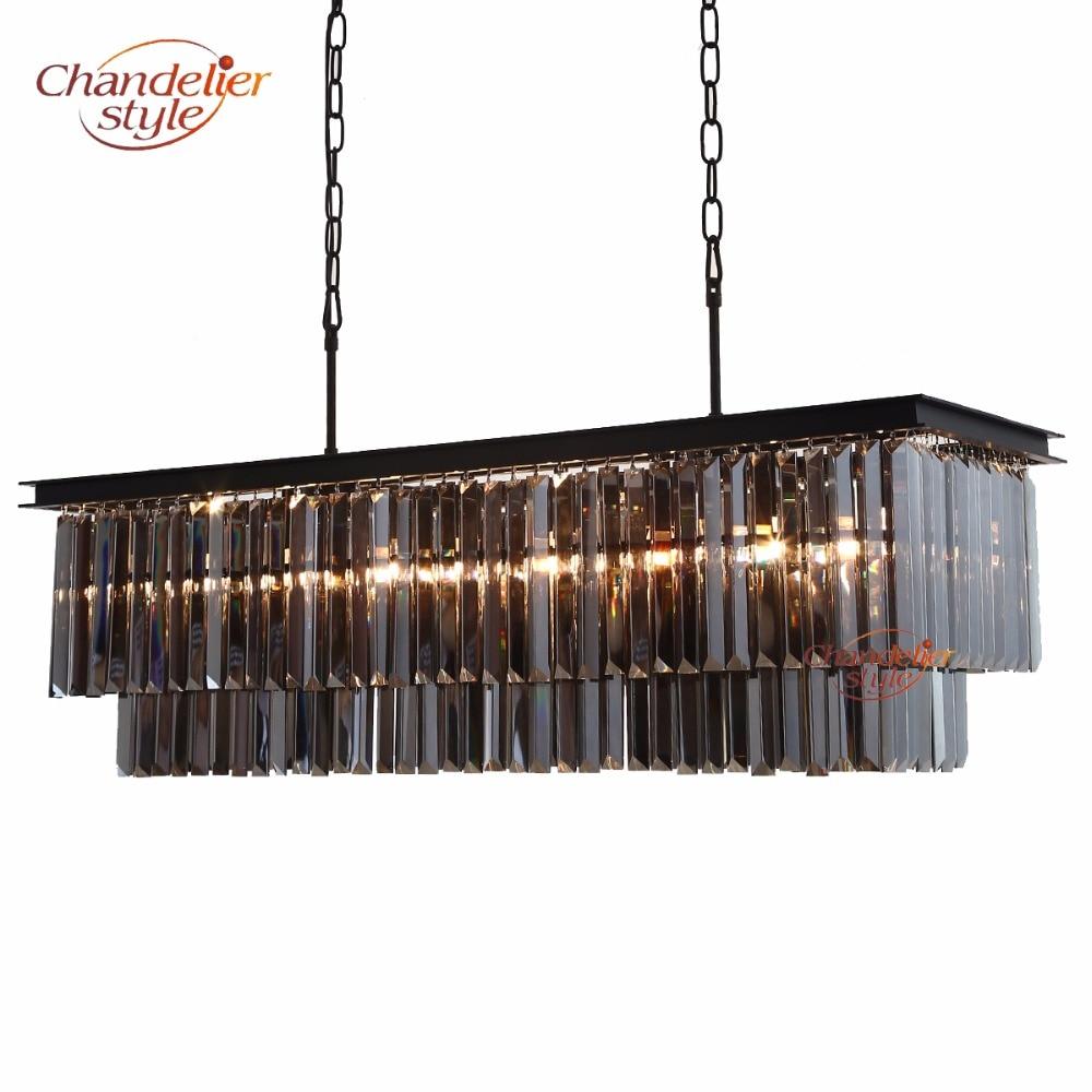 Modern Crystal Prism Chandelier Lighting Luxury Linear Cristal Chandelier Hanging Light Fixtures for Home Hotel Restaurant Decor стоимость