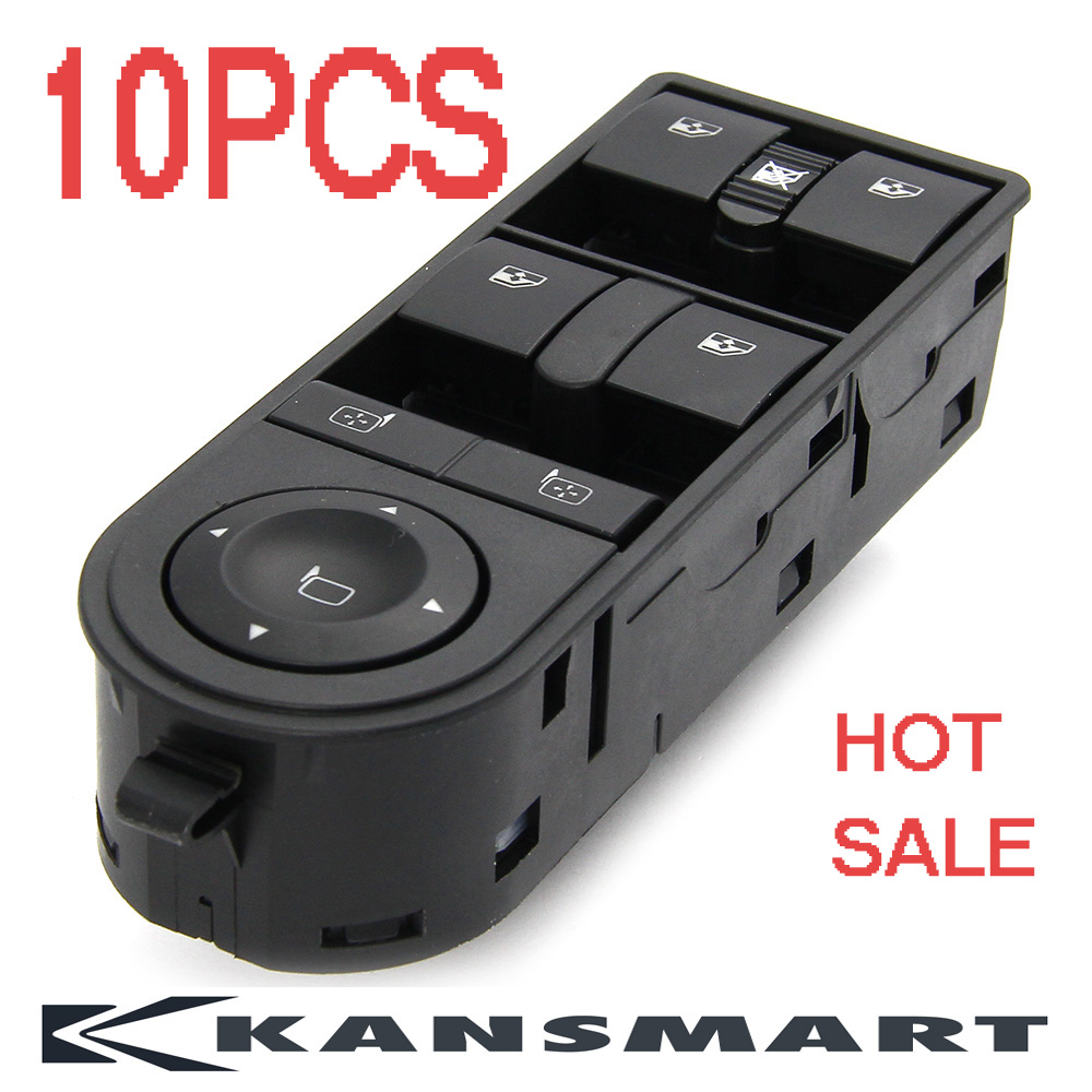 10pcs Auto Parts New Front Left Electric Control Master Switches 13228699 13215153 Power Window Switch For Opel Astra H Zafira B