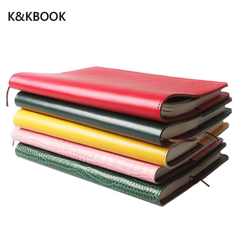 K&KBook Cowhide Genuine Leather Loose-leaf Notebook Crocodile Texture High Quality notepad filofax Planner Notebook Planner стоимость